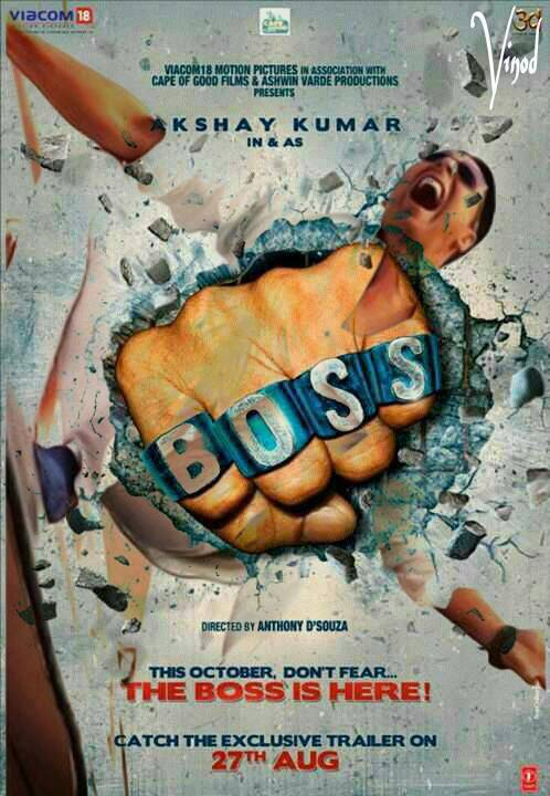 "Brand new poster of ""BOSS"" featuring Akshay Kumar"