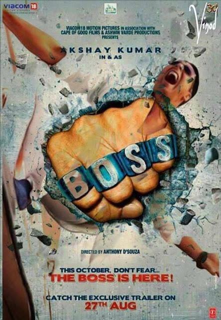 "Brand new poster of ""BOSS"" featuring Akshay Kumar"