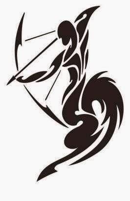Diseño Tatuaje tribal signo Sagitario 03