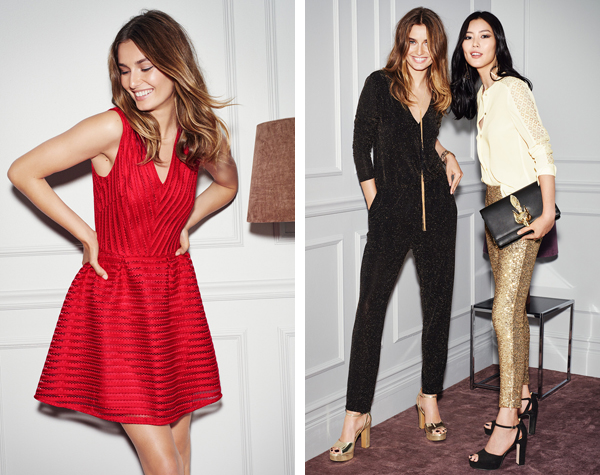 vestido rojo para Nochevieja Navidad pantalones lentejuelas y monos H&M