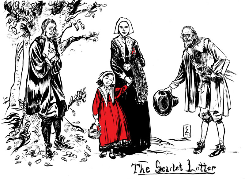 a focus on the main characters in the novel the scarlet letter About the scarlet letter character list summary and analysis  in the scarlet letter, he witnesses hester's punishment and is a symbol of civil  in the novel.