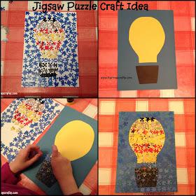 jigsaw puzzle craft idea picture