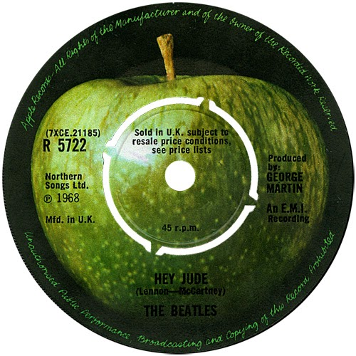 The Hey Jude Single Was First To Feature Apple Label