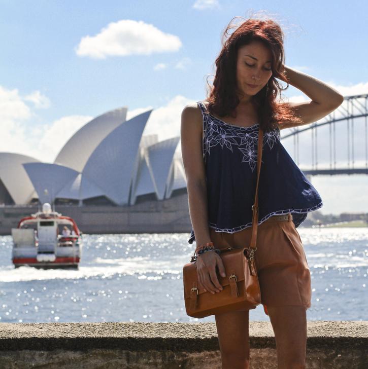 Wandering style, Sydney Opera House, Australia street style, Bali blouse
