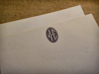 Monogram Notecards on Etsy