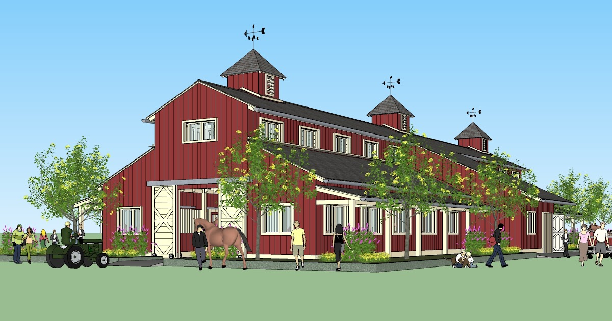 Home Garden Plans News B20h Large Horse Barn Plans For