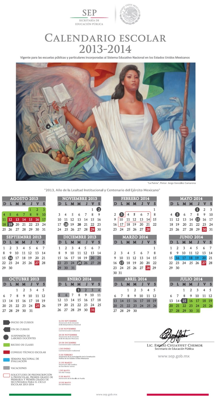 Supervisión 05 Educación Especial Zacatecas: El Calendario Escolar ...