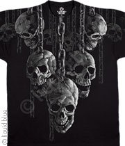 Skulls Hung With Chains T-Shirt