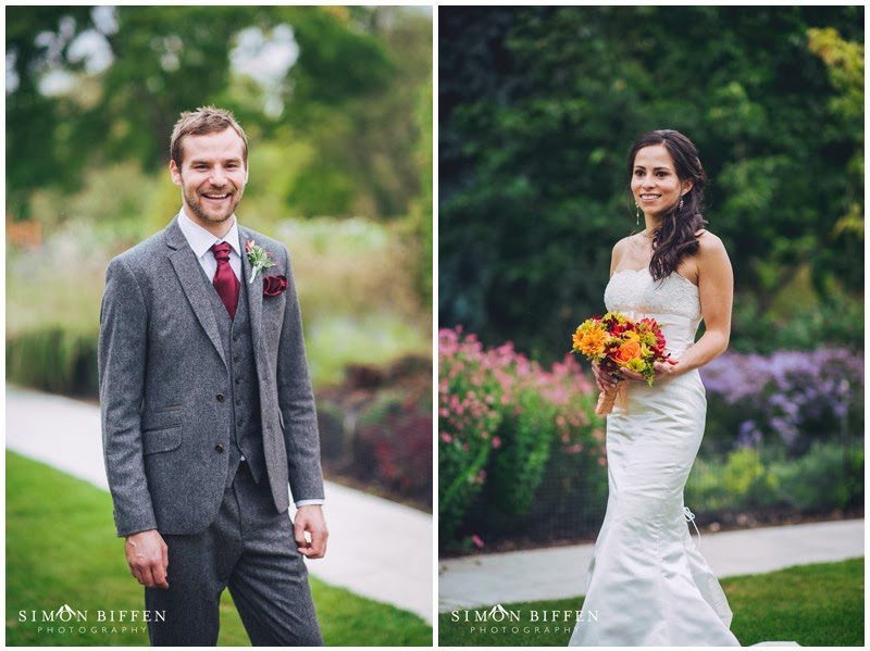 Bride and groom portraits at Sir Harold Hillier Gardens