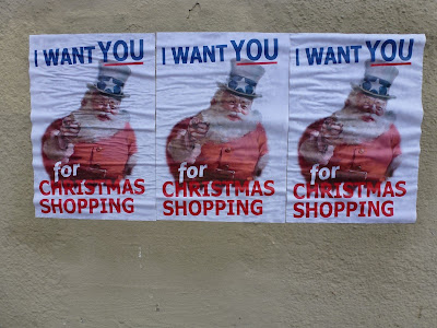 I want you for christmas shopping - Snata Claus, x-Mas, Weihnachten, München