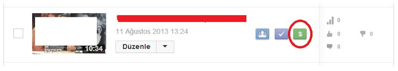 Youtube Videoları Para Kazanma Aktif Etme