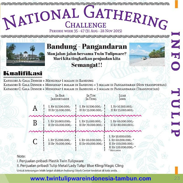 Info : National Gathering 2016