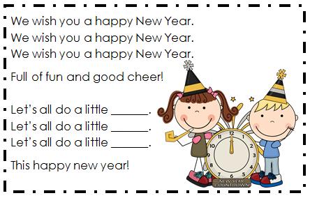 Holly\'s Hobbie: New Year\'s Wiggle Break Poem/Song