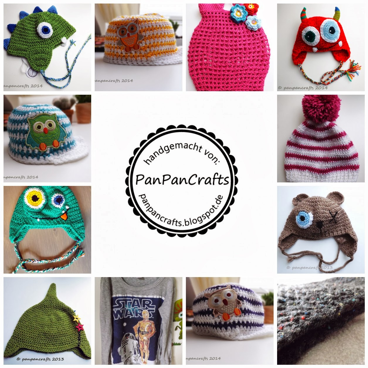 http://panpancrafts.blogspot.com | latest creations| crochet children hats and more