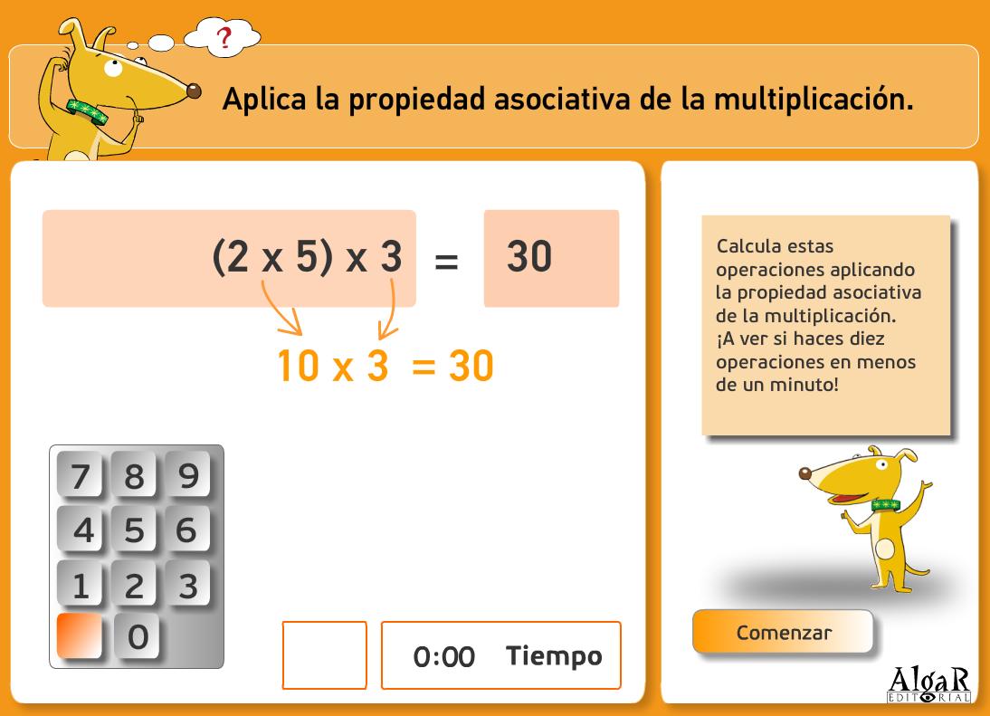 http://www.primerodecarlos.com/TERCERO_PRIMARIA/archivos/actividades_capicua_tercero/6/multiplicar_asociativa.swf