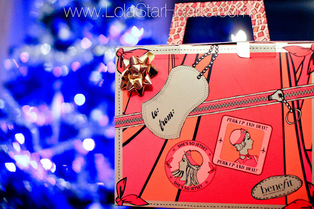 benefit cosmetics blogger christmas party #bbloggers christmas makeup sets shes so jetset fast train to fabulous review swatch photo