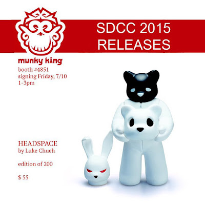 San Diego Comic-Con 2015 Exclusive Headspace Vinyl Figure by Luke Chueh x Munky King