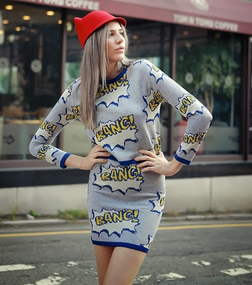 Cartoon Top and Skirt Set