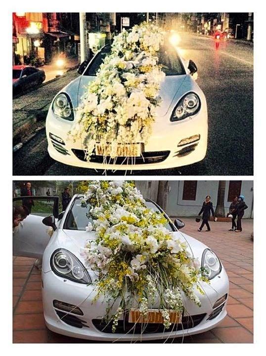 Chi tiền hoa 30 triệu, nhẫn 1 tỷ trong đám cưới của đại gia Hà Thành