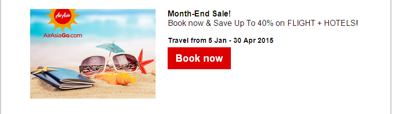 Air Asia: Year-End Holiday Sale from PHP199!
