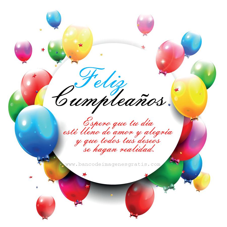 BANCO DE IMAGENES: Postal de cumpleaños con mensaje especial para compartir...