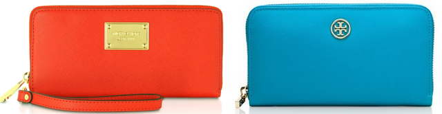 Zip Around Wallets - Michael Kors Tory Burch