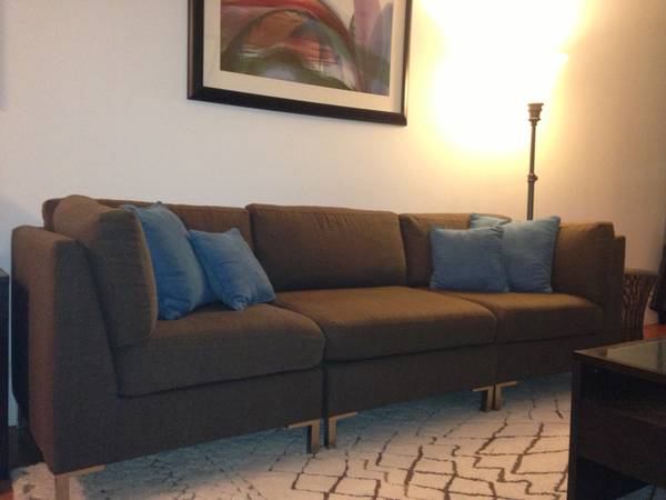 Modern West Elm Couch 3 Piece Set