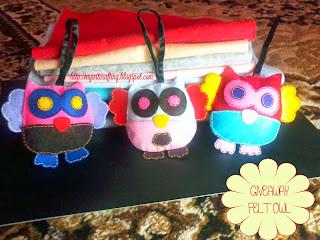 http://myartcrafting.blogspot.com/2014/05/giveaway-felt-owlie.html