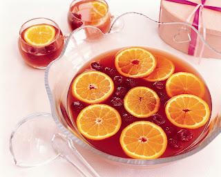 Sangria de Champanhe frutos vermelhos bosque