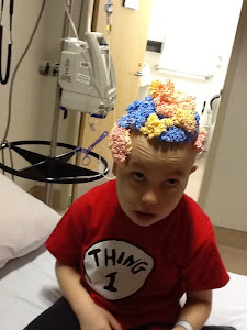 My son at the hospital having a little fun!