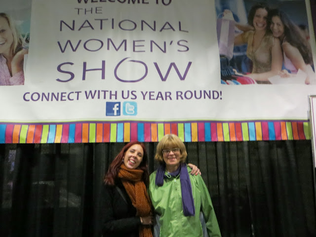 My Mom and I at The National Women's Show, Toronto Convention Centre, November 2013 shopping, fashion, celebrity, beauty