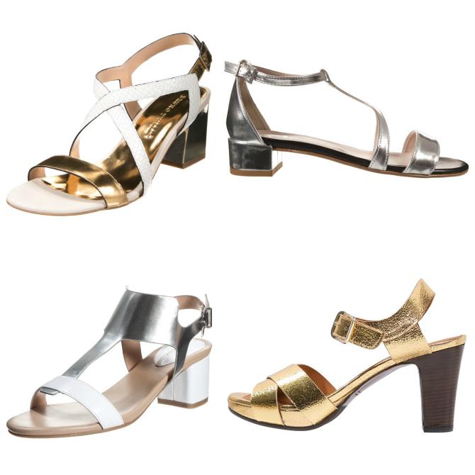 trend scarpe primavera 2015 metallizzate oro e argento