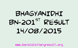 BHAGYANIDHI BN 201 Lottery Result 14-8-2015