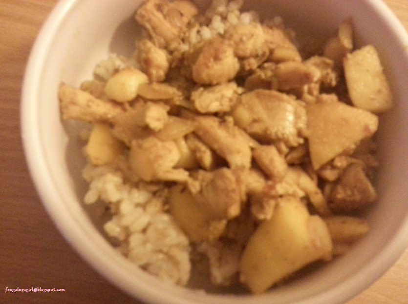 Frugal NYC Girl: Curry Apple Chicken Stir Fry