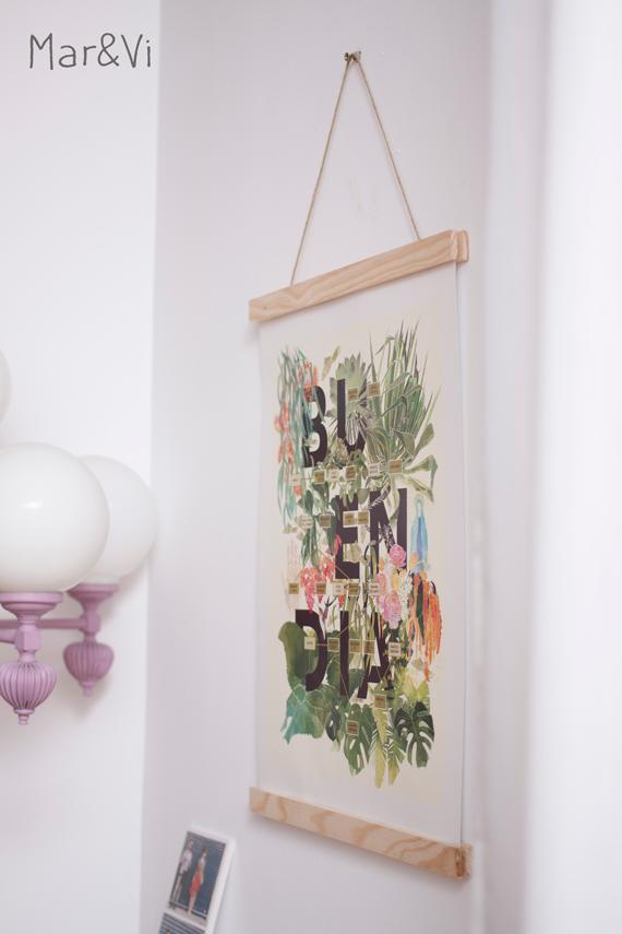 DIY: como hacer un colgador para láminas con madera