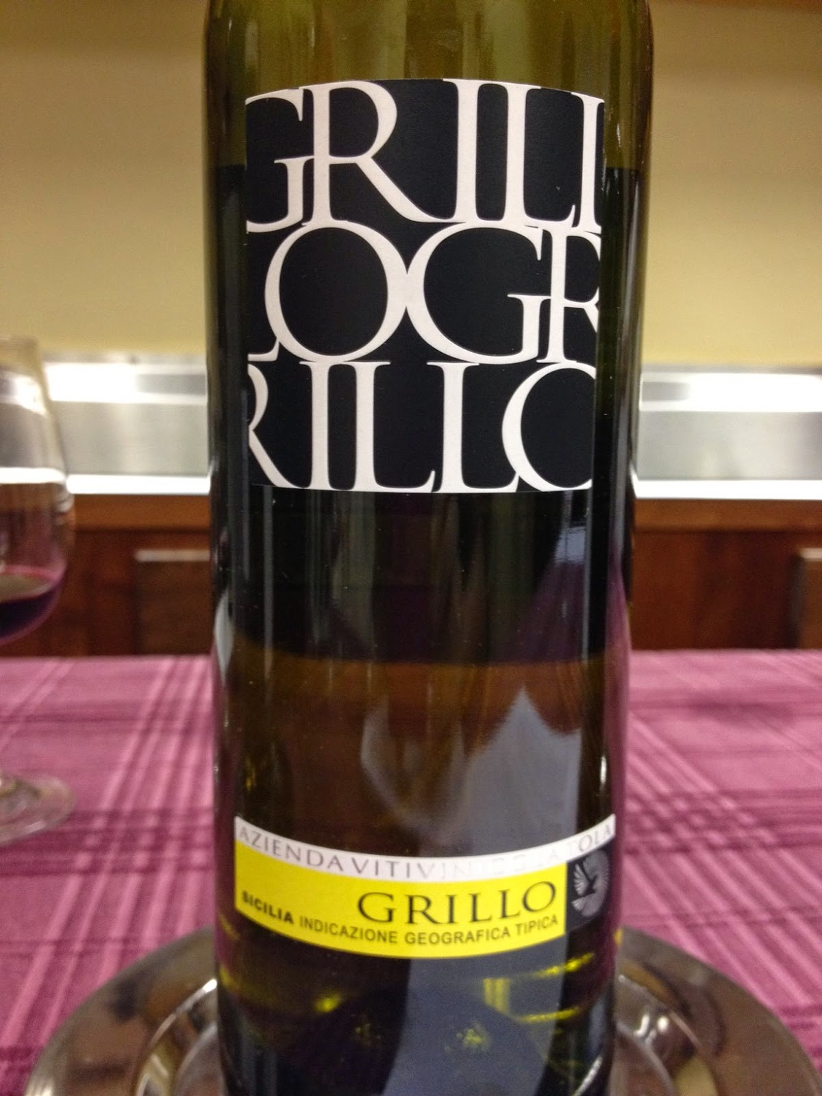 Tola winery in sicily with grillo grape