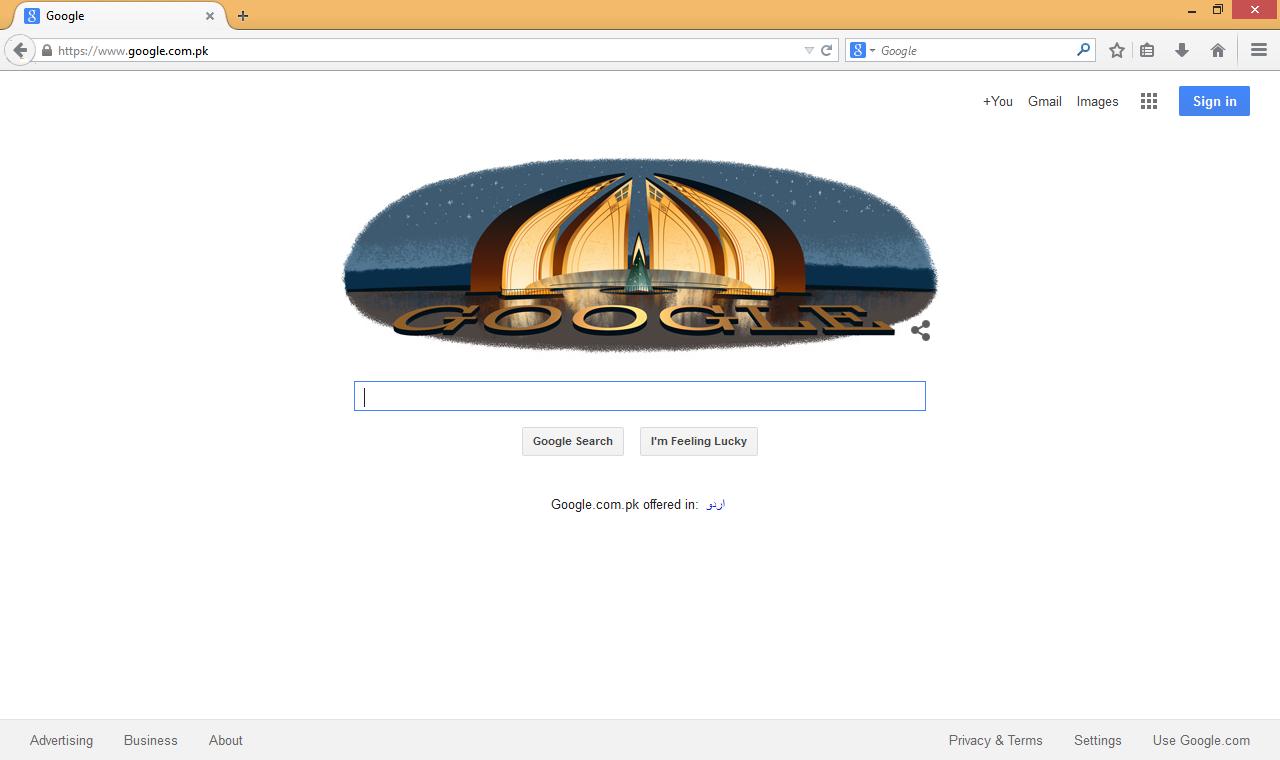 Google Pakistan Celebrating Pakistan's 68th Freedom Day time.