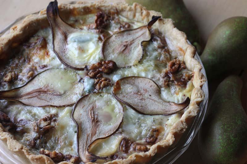 A2K - A Seasonal Veg Table: Pear, Walnut and Blue Cheese Tart
