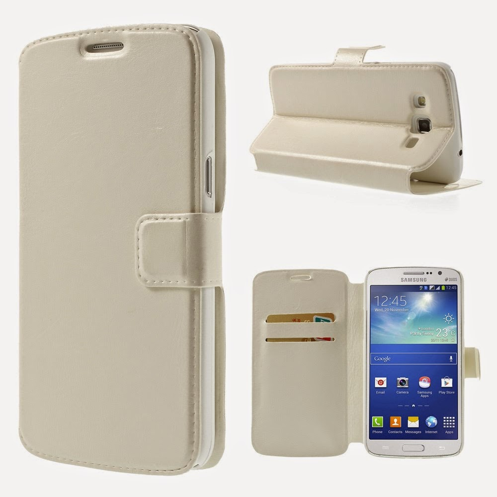 Leather-Case-Wallet-Stand-Samsung-Galaxy-Grand-2-Duos-Crazy-Horse-Texture-White