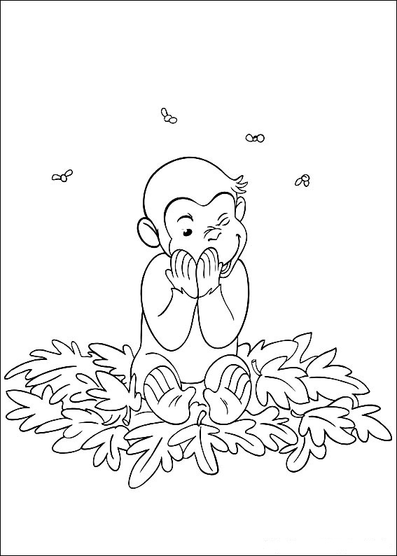 curious george christmas coloring pages - photo#14