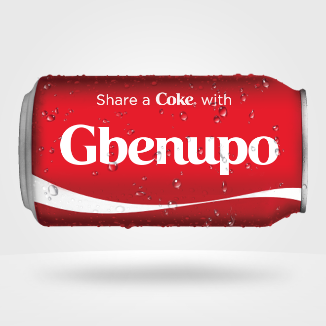 Get a Customized Coke Bottle Here