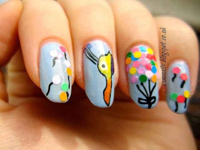 Up!-nail-art-balloon-house-kevin-indy's-indies-polish-manicure