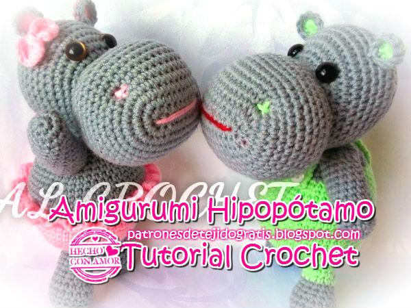 Tutorial amigurumi Hipopótamo