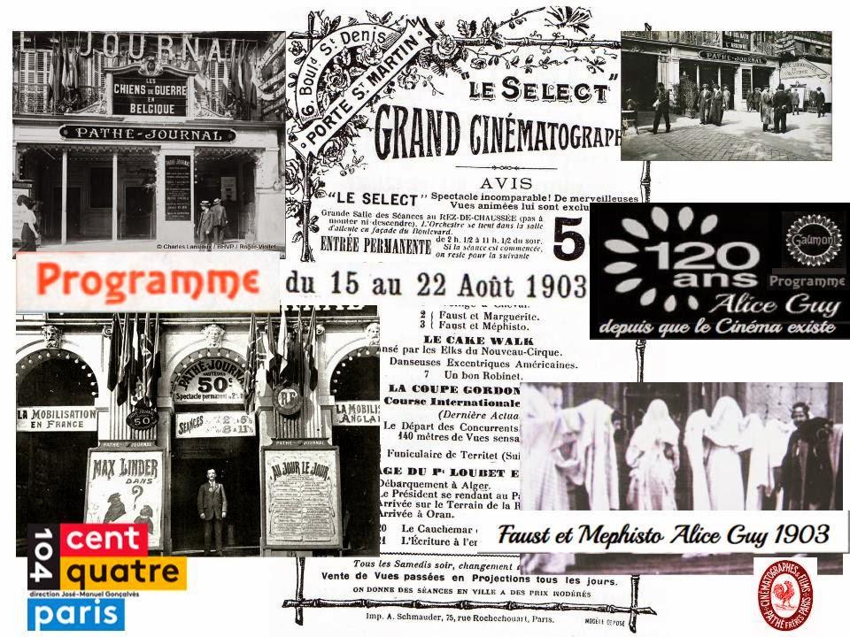 """""""Gaumont 120 ans, Alice Guy depuis que le cinema existe"""" Exposition 104 Paris"""