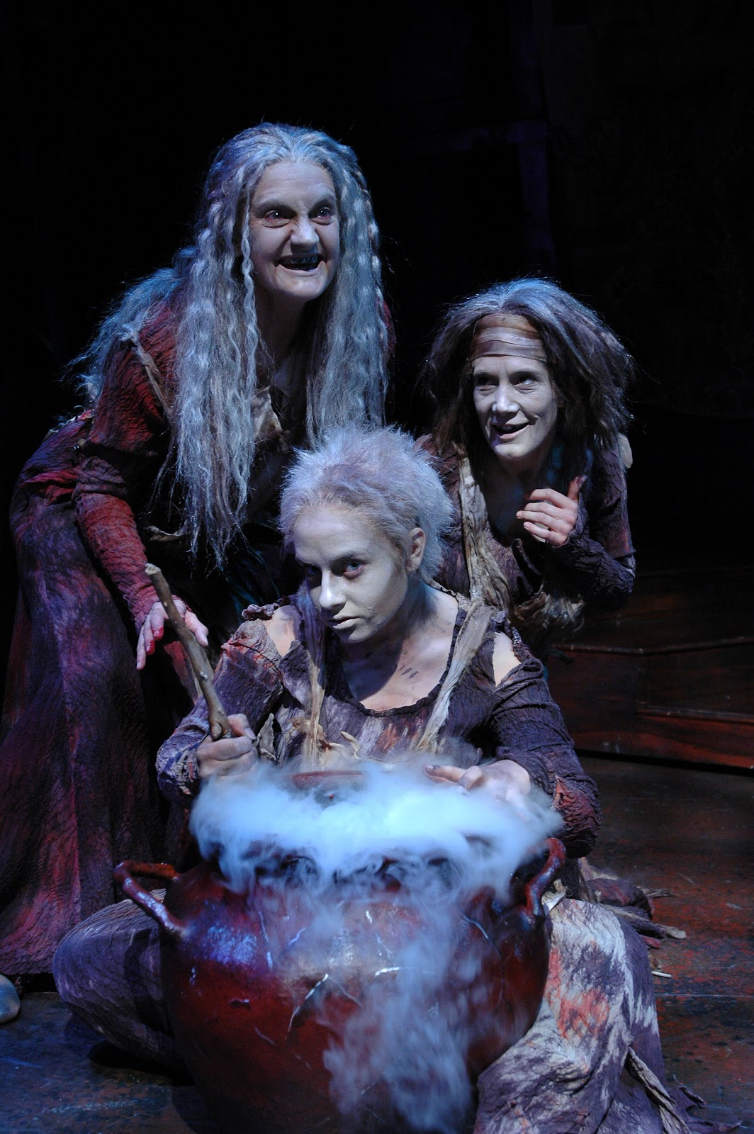 witches in macbeth Summary with a clap of thunder, the witches reappear having demonstrated their power by casting a terrible curse upon a sailor whose wife offended one of them, they encounter macbeth and.