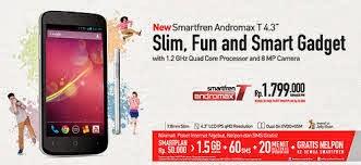 Smartfren baru saja merilis smartphone Andromax T . Ponsel pintar