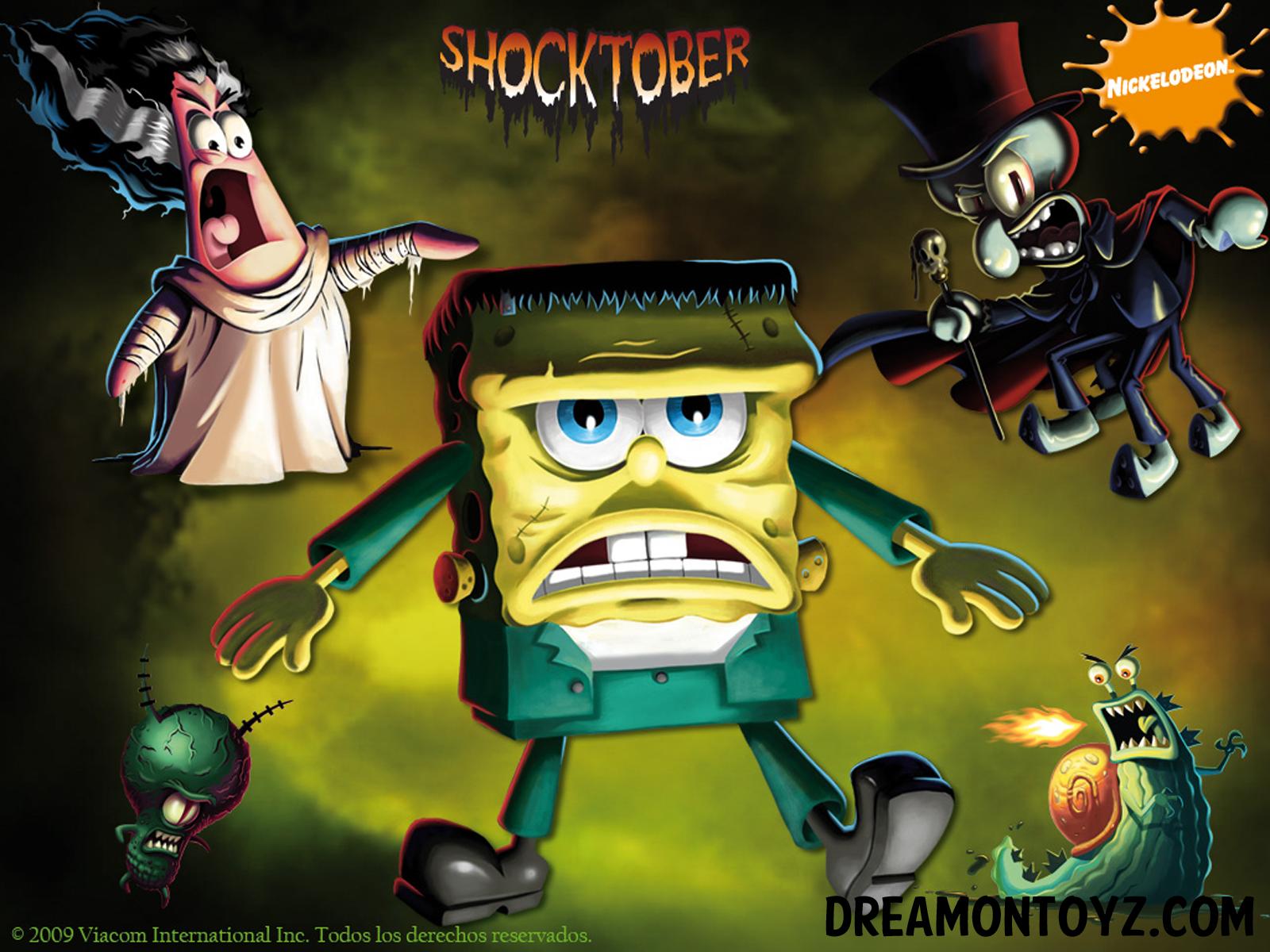Spongebob Halloween Desktop Wallpaper
