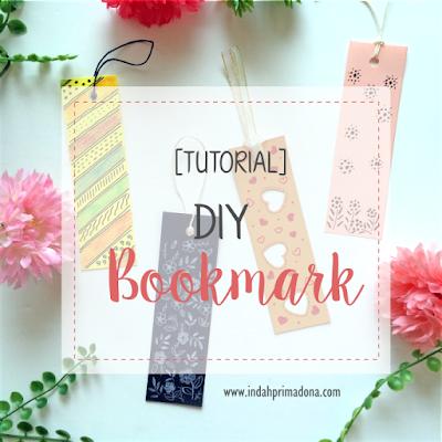 tutorial bookmark, diy bookmark, buat bookmark sendiri