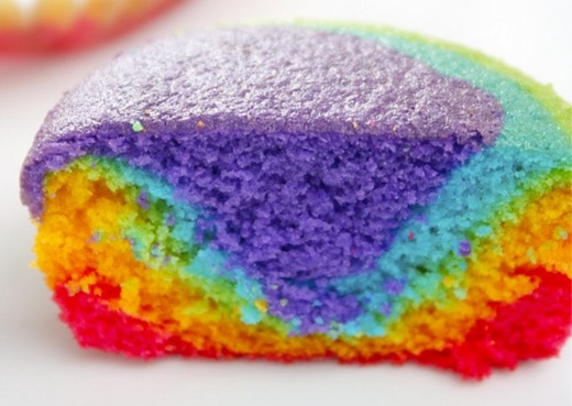 Resep Rainbow Cupcake