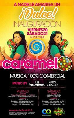 Flyer Discoteca Caramelo inaugiración